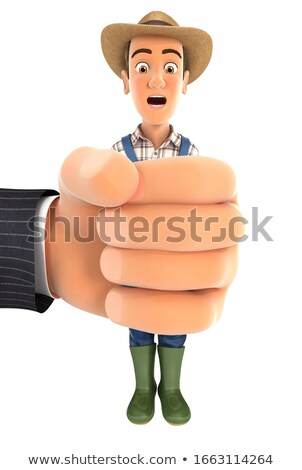 3d big hand squeezing farmer Stock photo © 3dmask