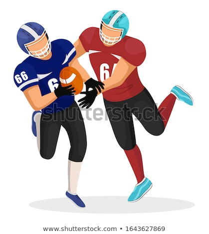 Aanval tegenstander mannen spelen amerikaanse voetbal Stockfoto © robuart