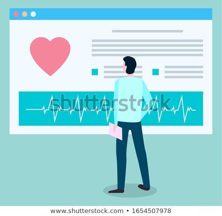 Patiënt medische kaart kardiogram permanente Stockfoto © robuart