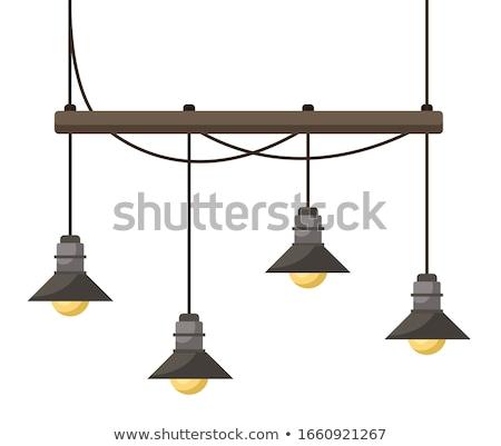 Chandelier to Illuminate Room, Four Light Bulbs Stock photo © robuart
