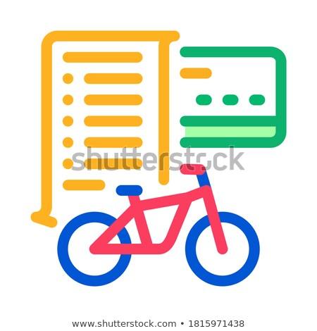Kart ödeme bisiklet hizmetleri ikon vektör Stok fotoğraf © pikepicture