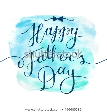 happy fathers day wishes card with realistic bow Stock photo © SArts