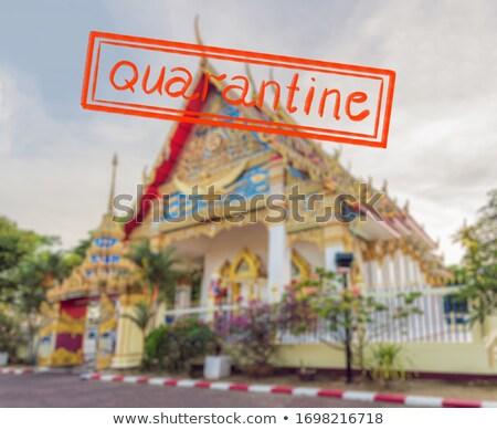 Coronavirus epidemie thai tempel phuket stad Stockfoto © galitskaya