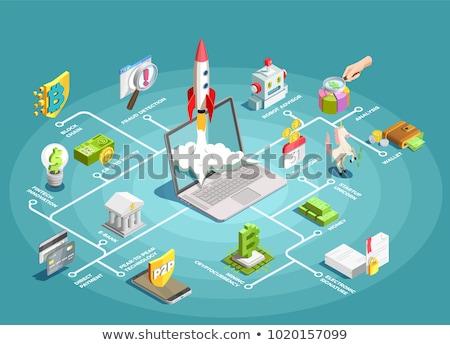 Inovação isométrica vetor bitcoin financeiro Foto stock © pikepicture