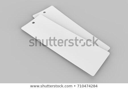 ブックマーク 3次元の図 孤立した 白 教育 ストックフォト © montego