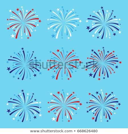 conjunto · fogos · de · artifício · vetor · ilustrações · preto · festa - foto stock © orson