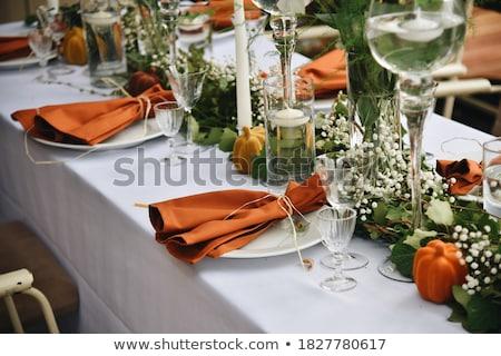 таблице осень украшение осень сквош тыква Сток-фото © klsbear