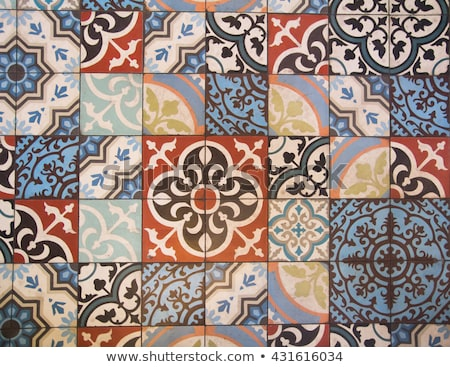 Andalusian style spanish blue ceramic tiles Stock photo © lunamarina