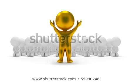 3d small people - worship an idol stock photo © AnatolyM