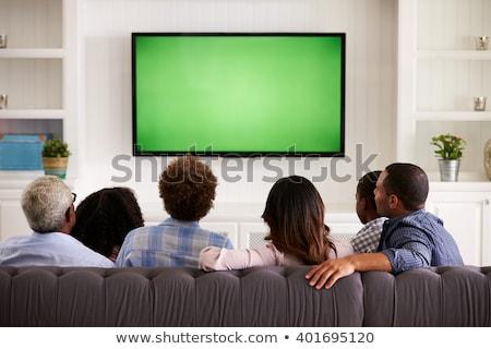 Zdjęcia stock: Starszy · człowiek · oglądania · telewizja · strony · domu