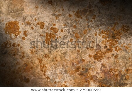 Corroded rusty metal surface lit diagonally Stock photo © Balefire9
