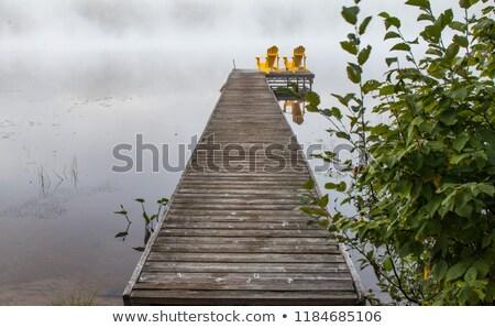 Szék befejezés dokk ül kora reggel nyár Stock fotó © jsnover