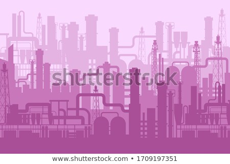 desenho · animado · fábrica · fumar · indústria · arquitetura · poluição - foto stock © blamb