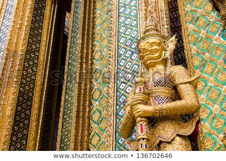 Figure in the Grand Palace in Bangkok Stock photo © duoduo