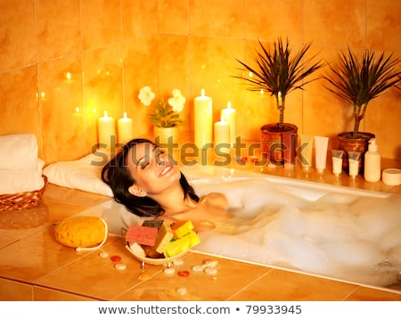 Young woman take a steam bath Stock photo © dotshock