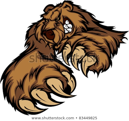 Stockfoto: Grizzly Bear Mascot Body With Paws And Claws