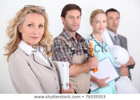 четыре · профессионалов · различный · женщину · врач · счастливым - Сток-фото © photography33