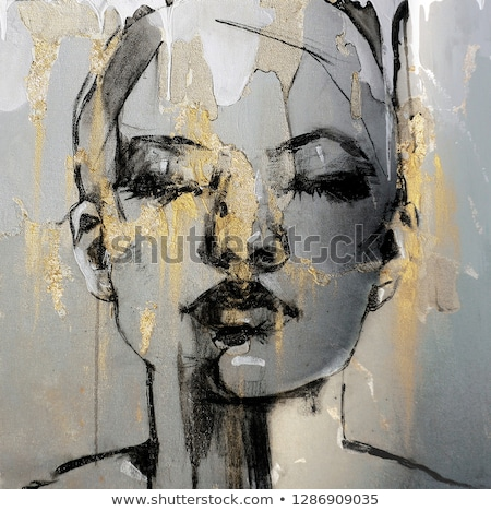 portrait of a woman painting stock photo © photography33