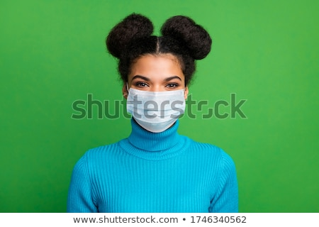 attractive brunet woman in blue Stock photo © marylooo
