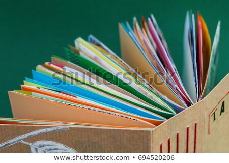 livre · ligne · mots · volée · sur - photo stock © Aliftin