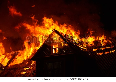 Burning house Stock photo © Stocksnapper
