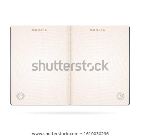 открытых паспорта различный иммиграция марок Сток-фото © luapvision