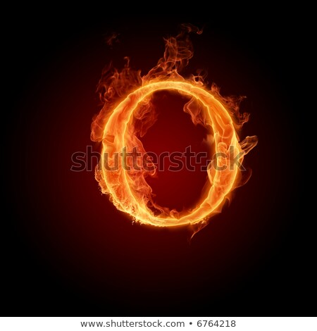 Fiery font. Letter I Stock photo © dvarg