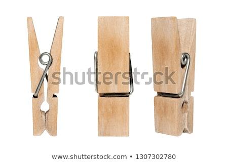 Wasknijper witte teamwerk hout Rood pin Stockfoto © devon
