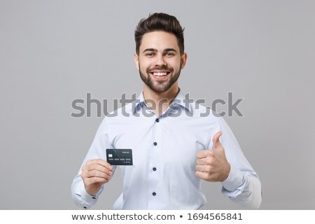 man with card and thumb up stock photo © paha_l
