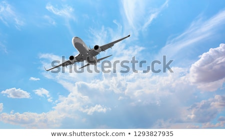 pista · aviao · voar · aeroporto · sunset - foto stock © mechanik