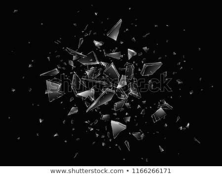 törött · üveg · ablak · törött · hátterek · csattanás · éles - stock fotó © sirylok