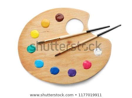 Brush on color palette  stock photo © inxti