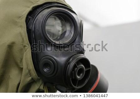 Terörist adam tabanca siyah beyaz kol Stok fotoğraf © tiero