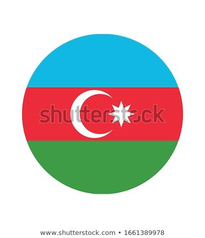 Azerbeidzjan vlag icon geïsoleerd witte internet Stockfoto © zeffss