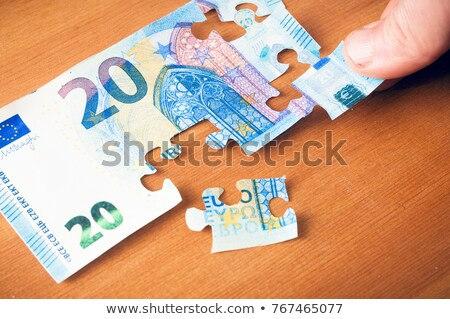 Hands and puzzle out of the money EURO Stock photo © vlad_star