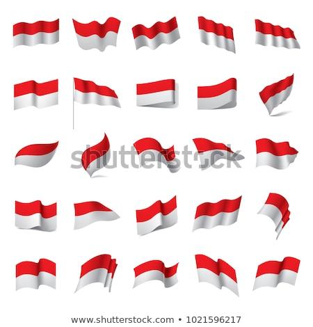 Indonésia · bandeira · branco · projeto · assinar · viajar - foto stock © zeffss