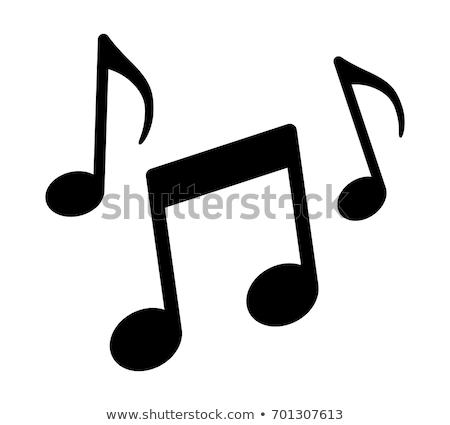 Hangjegyek ezüst írott jegyzetek zene ír Stock fotó © FotoVika