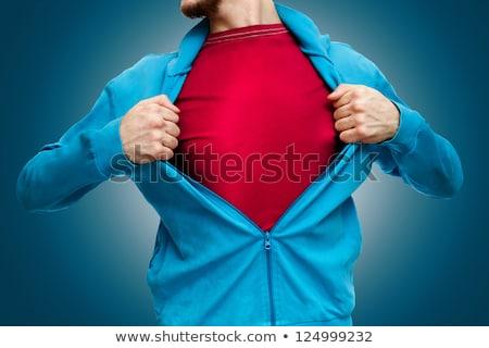 open shirt man stock photo © curaphotography