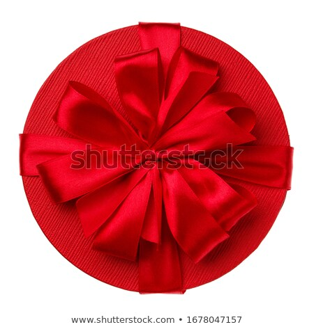 Stock photo: Red And Gold Gift Satin Bow
