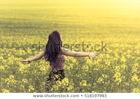 Frau · orange · weiß · Mädchen · glücklich - stock foto © CandyboxPhoto
