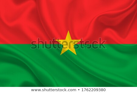 öreg · zöld · papír · térkép · Burkina · izolált - stock fotó © speedfighter