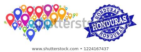 Honduras bandiera dettagliato seta eps10 sport Foto d'archivio © milsiart