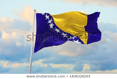 Political waving flag of Bosnia and Herzegovina Stock photo © perysty