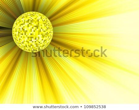 Yellow disco ball 3d illustration. EPS 8 Stock photo © beholdereye
