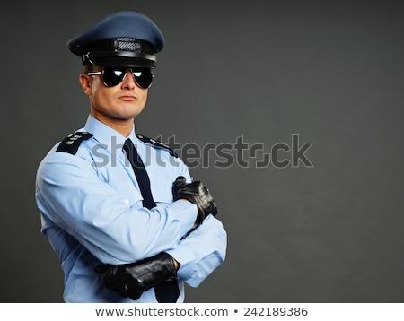 politieagent · politieagent · vintage · pop · art · retro - stockfoto © kakigori
