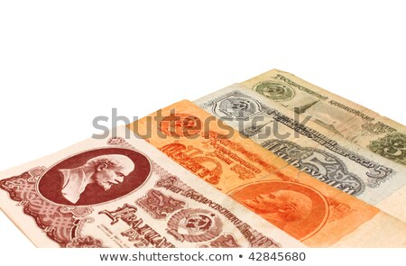 Set from four old Soviet banknotes Stock photo © saicle