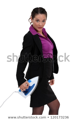 Businesswoman stood with iron Stock photo © photography33