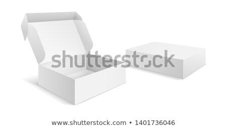 pizza in open paper box stock photo © ozaiachin