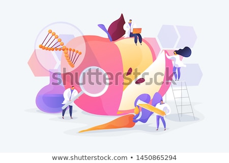 Concept on the genetic manipulation of food  Stock photo © HectorSnchz