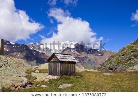 Window of a mountain hut in the italian alps Stock photo © haraldmuc